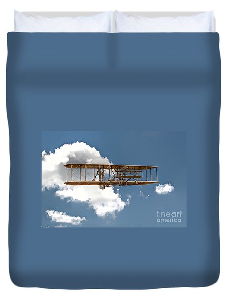 Wright Brothers First Flight Duvet Cover by Randy Steele