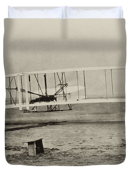 Wright Brothers - First In Flight Duvet Cover