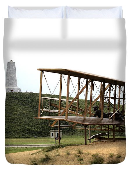 Wright Brothers Memorial At Kitty Hawk Duvet Cover