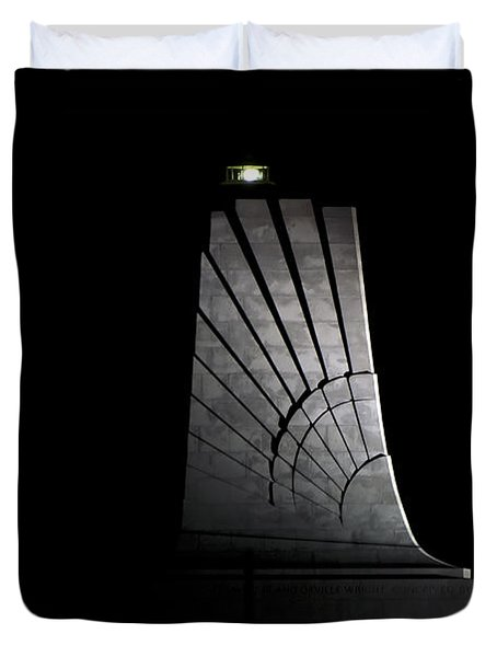 Duvet Cover featuring the photograph Wright Brothers Memorial II by Greg Reed