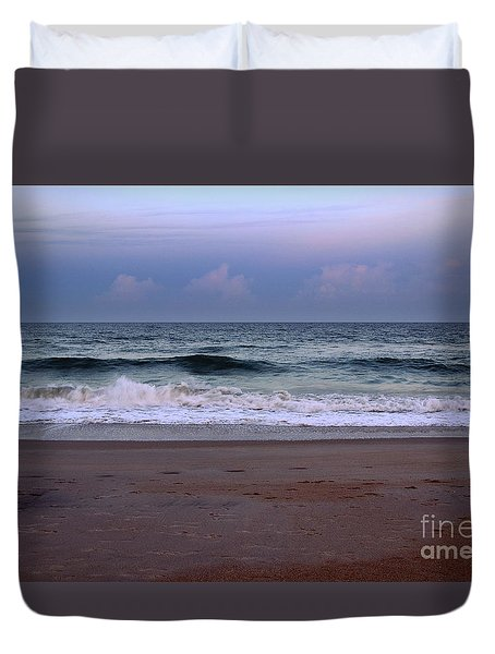 Wrightsville Sunset Waves Duvet Cover