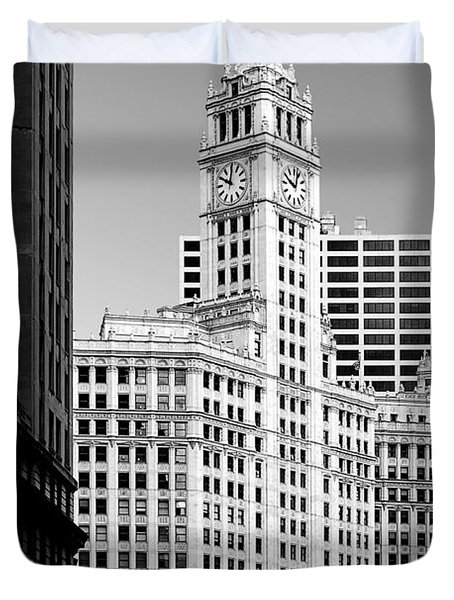 Wrigley Building - A Chicago Original Duvet Cover by Christine Till