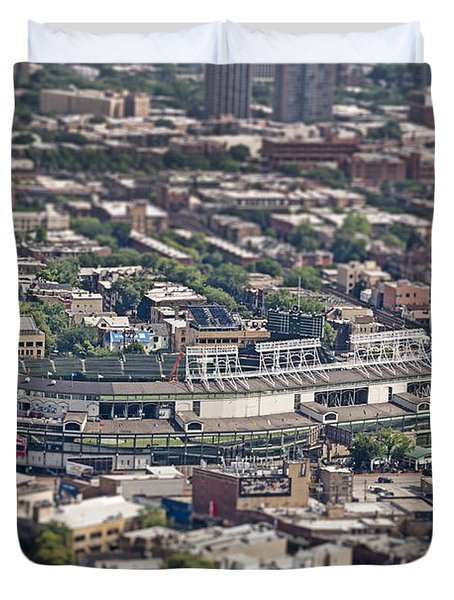Wrigley Field - Home Of The Chicago Cubs Duvet Cover by Adam Romanowicz