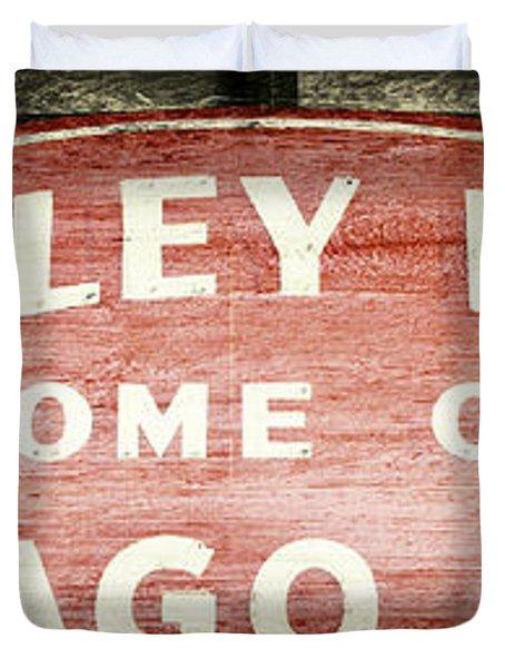 Wrigley Field Sign - No.2 Duvet Cover