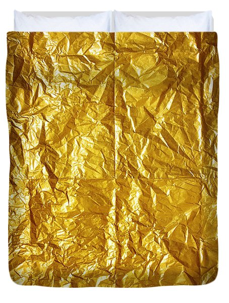 Wrinkled Paper Duvet Cover by Carlos Caetano