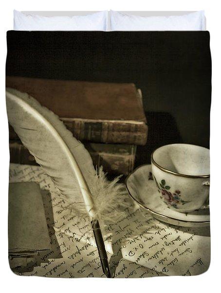 Writing Duvet Cover by Joana Kruse