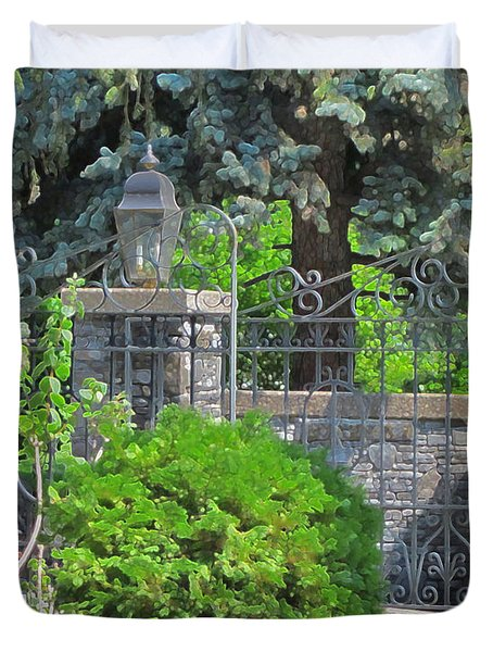 Wrought Iron Gate Duvet Cover