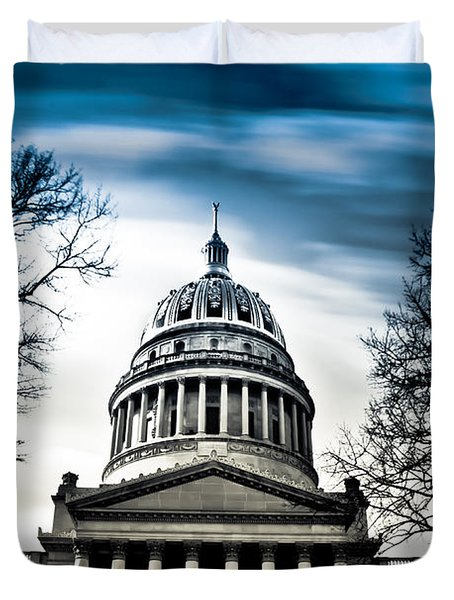 Wv State Capitol Building Duvet Cover