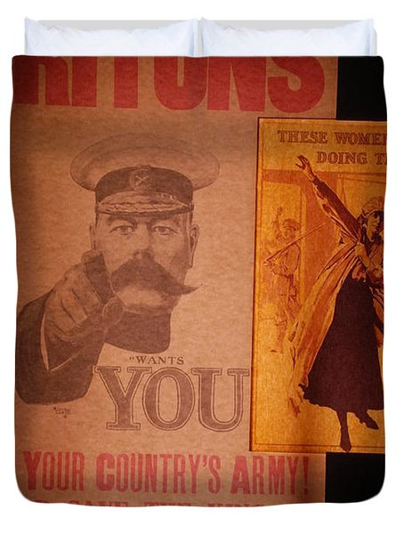 Ww1 Recruitment Posters Duvet Cover
