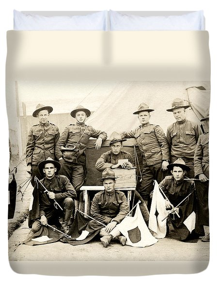 Wwi Us Army Signal Corps Duvet Cover by Historic Image