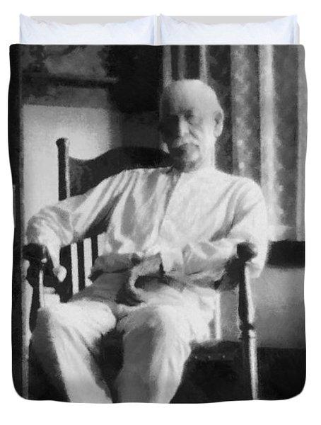 Wyatt Earp In A Rocking Chair Duvet Cover