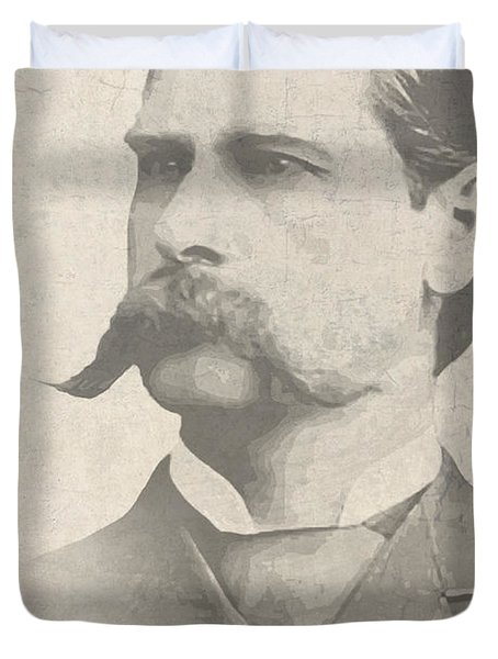 Wyatt Earp U. S. Marshal Duvet Cover