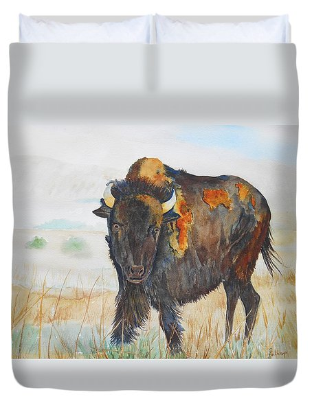 Wyoming - King Of The Prairie Duvet Cover