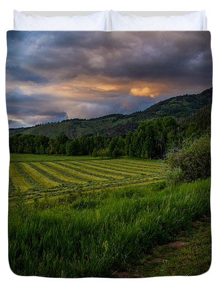 Wyoming Pastures Duvet Cover by Chad Dutson