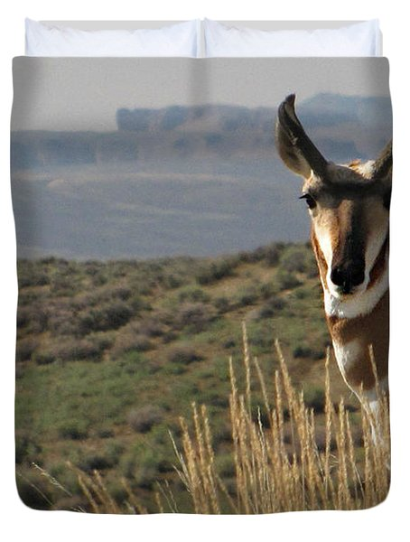 Wyoming Pronghorn Duvet Cover