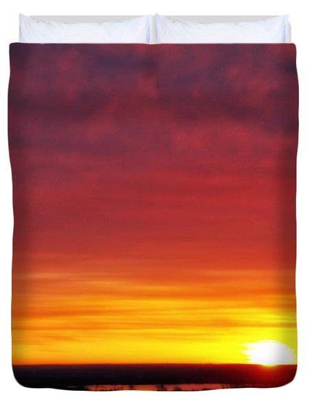 Wyoming Sunrise Duvet Cover