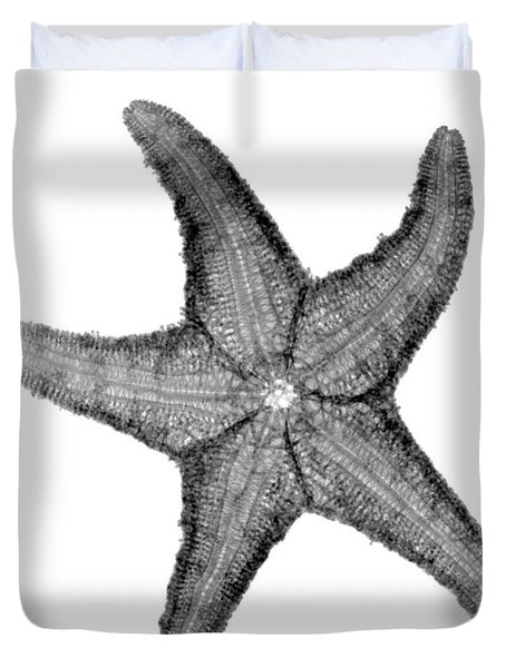 X-ray Of Starfish Duvet Cover by Bert Myers