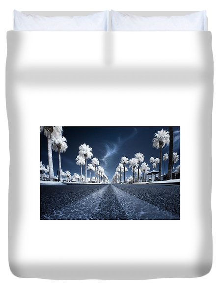 Duvet Cover featuring the photograph X by Sean Foster