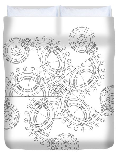 X To The Sixth Power Duvet Cover