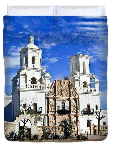 Xavier Tucson Arizona Duvet Cover by Douglas Barnett