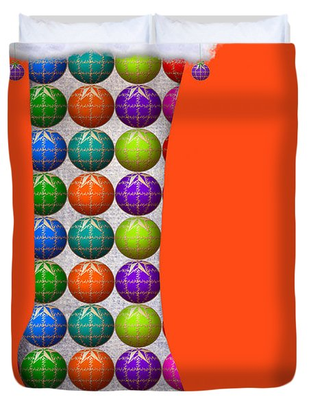 Xmas Kinky Orange Duvet Cover