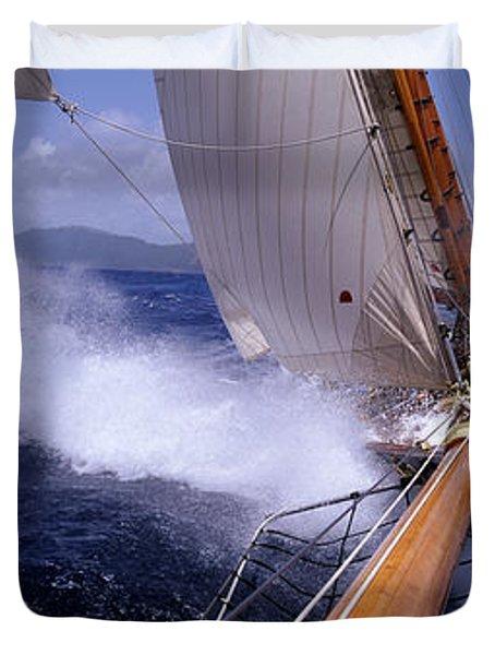 Yacht Race, Caribbean Duvet Cover