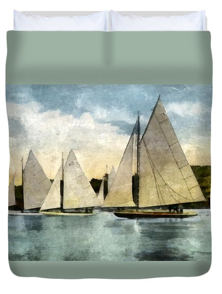 Yachting In Saugatuck Duvet Cover