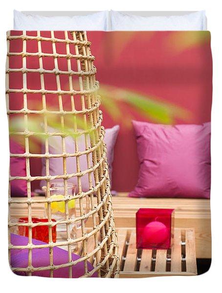 Yado Garden Duvet Cover by Anne Gilbert