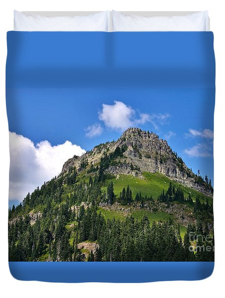 Yakima Peak Duvet Cover by Sean Griffin