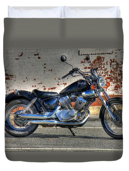 Yamaha Virago 01 Duvet Cover by Andy Lawless