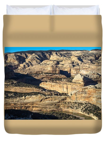 Yampa River Canyon In Dinosaur National Monument Duvet Cover