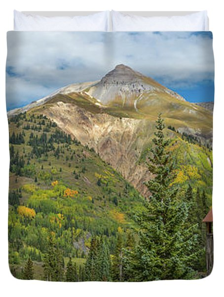 Yankee Girl Silver Mine In Red Mountain Duvet Cover