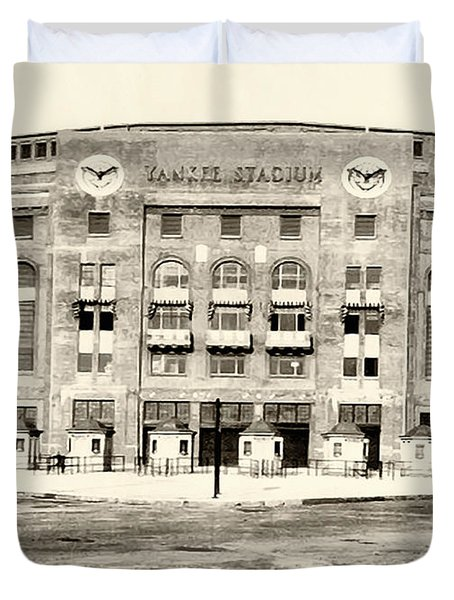 Yankee Stadium Duvet Cover by Bill Cannon