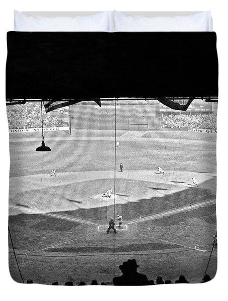Yankee Stadium Grandstand View Duvet Cover