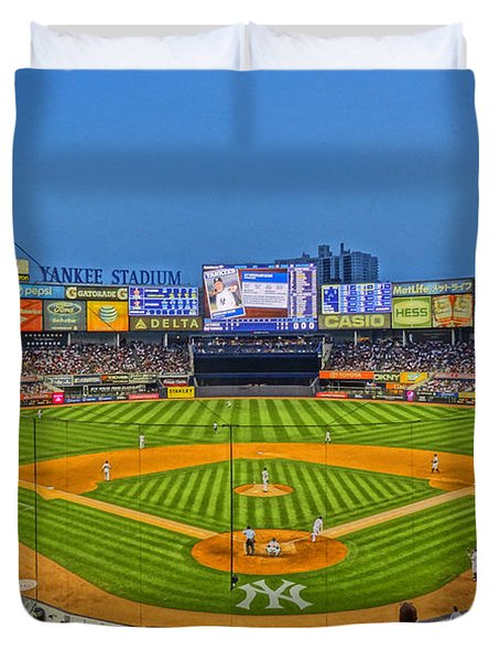 Yankee Stadium Duvet Cover by Jeffrey Friedkin