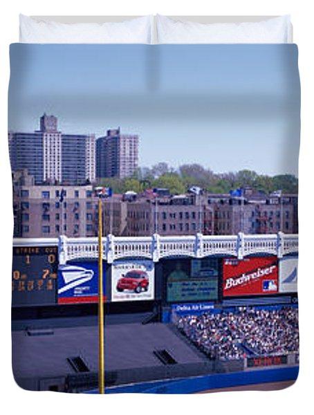 Yankee Stadium Ny Usa Duvet Cover by Panoramic Images