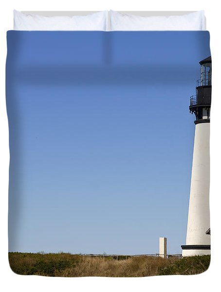Yaquina Head Lighthouse 3 Duvet Cover by David Gn