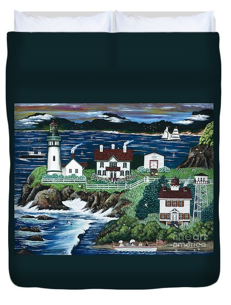 Yaquina Lighthouse Duvet Cover