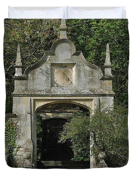 Yarnton Sundial Duvet Cover by Joseph Yarbrough