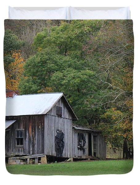 Ye Old Cabin In The Fall Duvet Cover