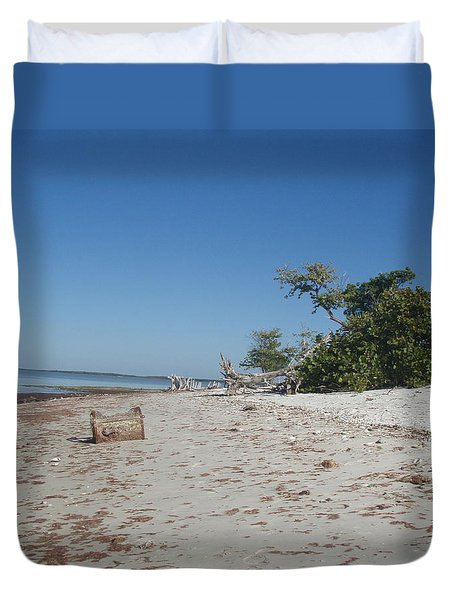 Duvet Cover featuring the photograph Ye Olde Pirates Chest by Robert Nickologianis