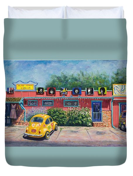 Ye Ole Hippie Emporium Duvet Cover by Patty Kay Hall