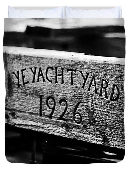 Ye Yacht Yard 1926 Duvet Cover