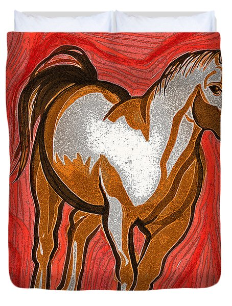 Year Of The Horse By Jrr Duvet Cover