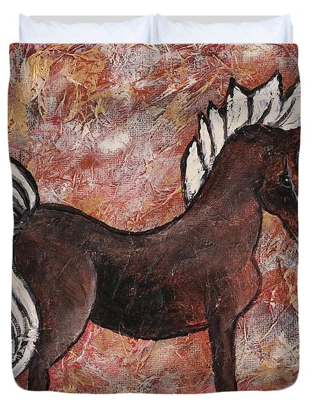 Year Of The Horse Duvet Cover