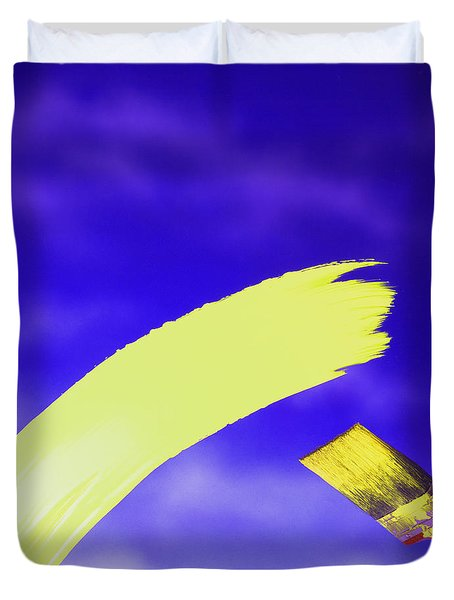Yellow And Blue Duvet Cover
