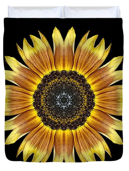 Yellow And Brown Sunflower Flower Mandala Duvet Cover