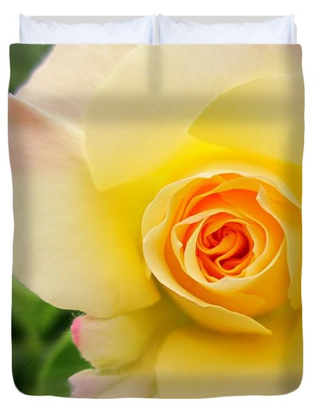 Yellow And Pink Beauty  Duvet Cover