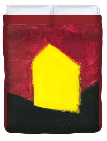 Yellow Arthouse Duvet Cover