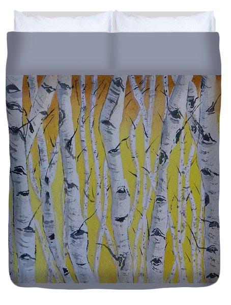 Yellow Birch Duvet Cover